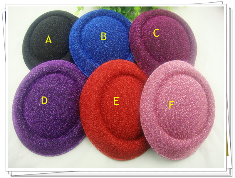 """Free shipping 6.3""""(16cm) 6color mini top fascinator hats/ party hats/glitter hats,DIY hair accessories 12pieces/lot MH019(China (Mainland))"""