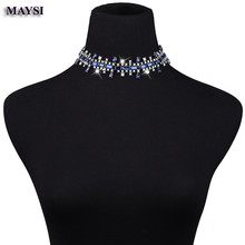Buy Crystal Rhinestone Choker Necklace 2017 Statement Necklaces Women Big Fashion Necklace Collar Party Chunky Necklace nc for $7.10 in AliExpress store