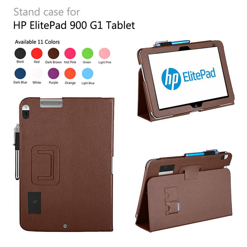 Pu leather pouch case  for HP ElitePad 900 G1 free shipping 100pcs/lot<br><br>Aliexpress