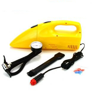 Multifunctional car car vacuum cleaner 2 1 topping-up pump up pump high power vacuum cleaner