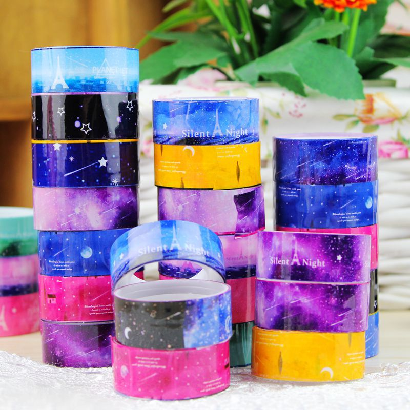 1pcs diy candy hot sky tape decoration roll diy washi for Decoration tape