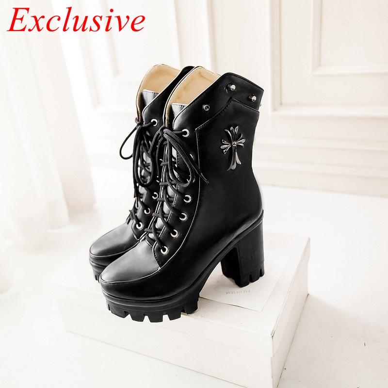 Original Details About DEMONIA Womens Platform Gothic Punk Knee Boots Shoes