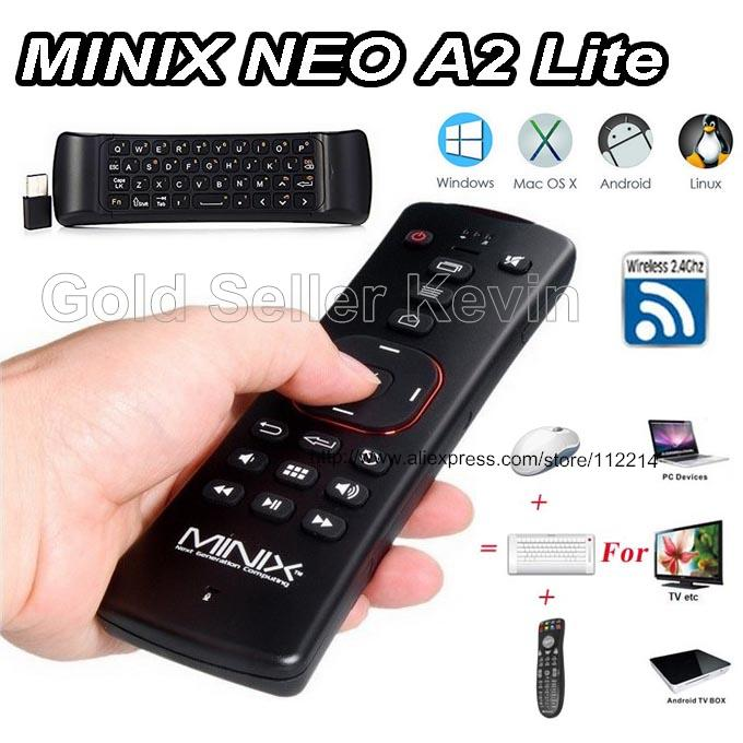Original Minix NEO A2 Lite 2 4GHz Wireless Air Mouse Six axis Gyroscope Gampad Remote Control