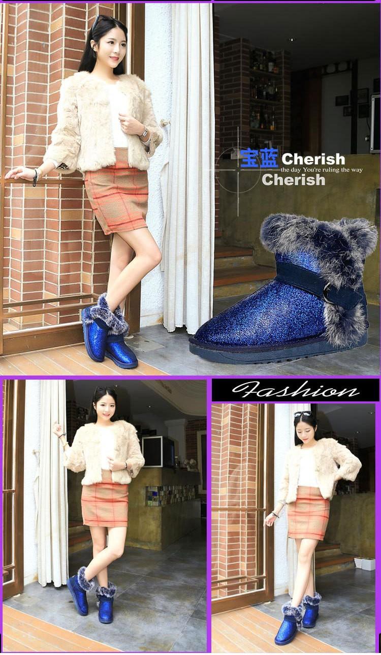 ซื้อ ที่มีคุณภาพสูงในช่วงฤดูหนาวผู้หญิงบู๊ทส์หิมะb lingหัวเข็มขัดปิดอุ่นให้แฟชั่นsexyรองเท้าผู้หญิงสไตล์รัสเซียรองเท้าGN19
