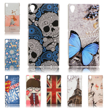 Hot shot!! Fashion 15 style Colored Drawing Hard Back Case Cover For Sony Xperia Z3 Case L50T L55T D6653 D6603 D6643 Phone cover