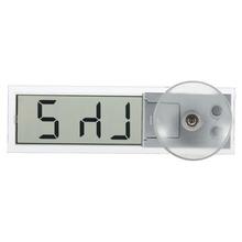 1pcs Mini Durable Transparent Car Electronic Clock LCD Display Digital with Sucker New Free Shipping(China (Mainland))