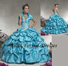 Turquoise Blue/Purple Quinceanera Dresses Jacket Beaded Ball Gowns vestidos de 15 anos sweet 16 dresses - Wayer Dress-Wayer to Love store