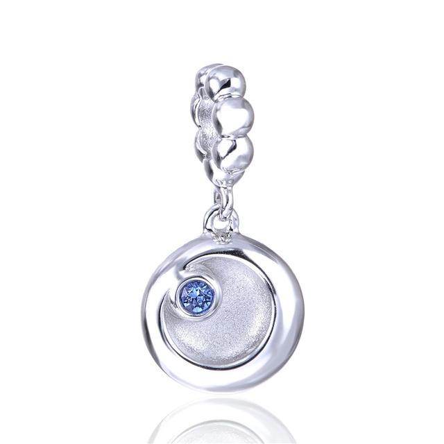 Новый горячая распродажа подходит браслеты ожерелья стерлингового серебра бусины полумесяца и медведица подвеска подвески ювелирные изделия DIY бусины оптовая продажа