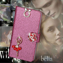Buy Luxury PU Leather Wallet Case Samsung Galaxy A5, 2016 Flip Cover Shining Crystal Bling Case Card Slot & Bling Diamond for $2.44 in AliExpress store