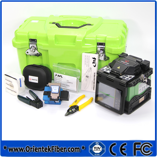 Optical Fiber fusion splicer Fiber Optic Splicing Machine Orientek T37 Fusionadora de fibra optica Promotion(China (Mainland))