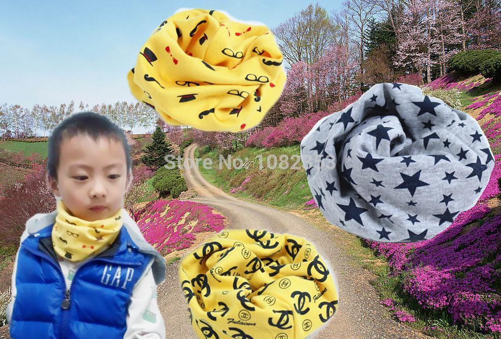 2015 free shipping cotton star fish bone anchors flag bear grid boat dog cat dots fawn glass design baby scarf kids collar(China (Mainland))