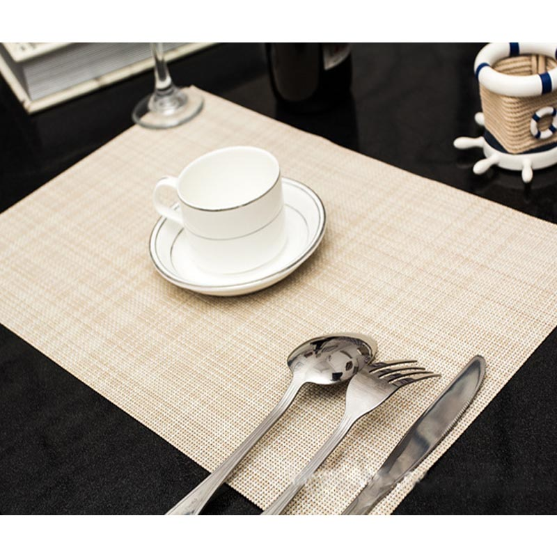 New Practical PVC Table Mat With Woven Design Plastic Colourful Placemats Cup Coaster Kitchen Dining Table Mat W7 47 C0019(China (Mainland))