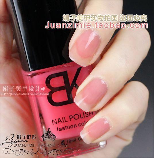 Bottle nail art casebottle bk nail polish oil 18ml transparent 46