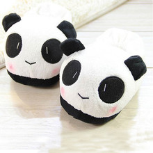 Men's Women Indoor Home Slippers Animals Panda Lover Male Female Covered Back Heel Autumn Winter Warm Soft Non-Slip Shoes(China (Mainland))