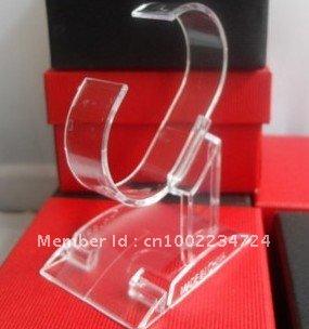 wholesale retail plastic Bracelet Wrist Watch Jewelry Display Rack Holder Show Stand(China (Mainland))
