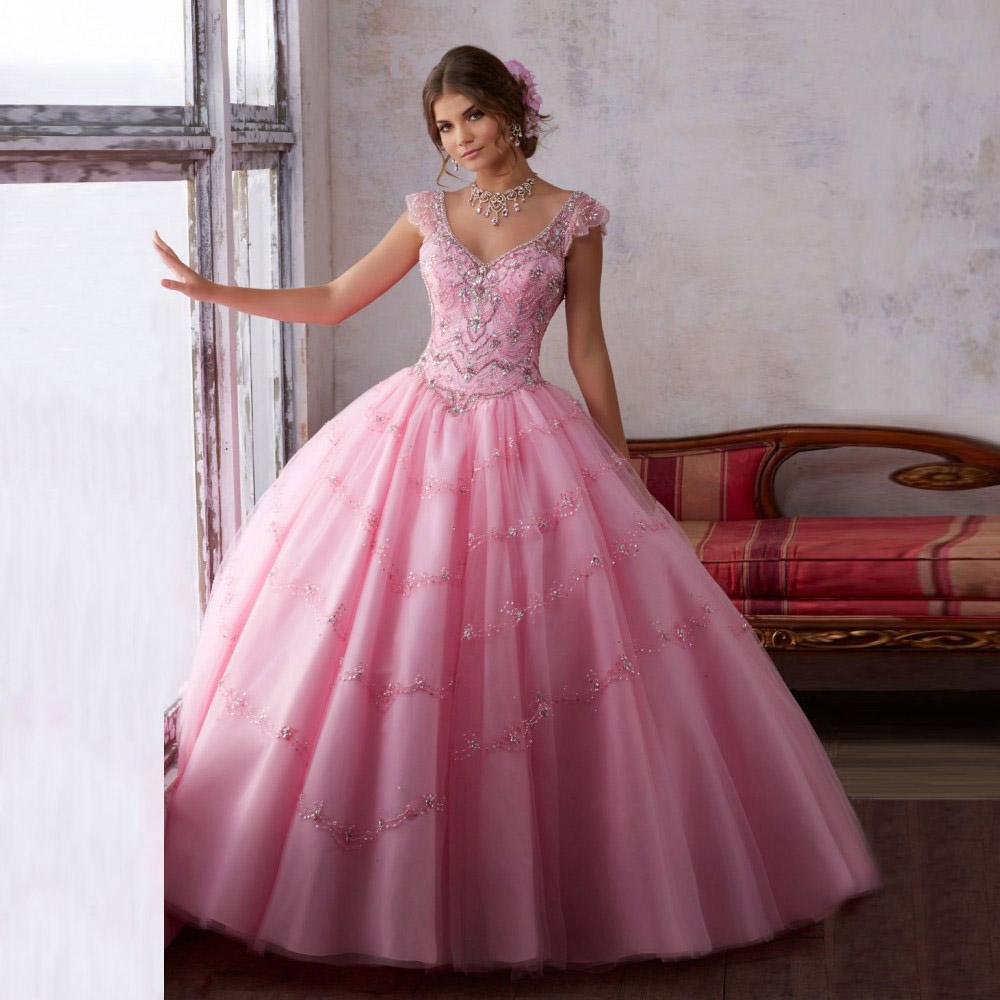 vestidos de 15 2017 rosa