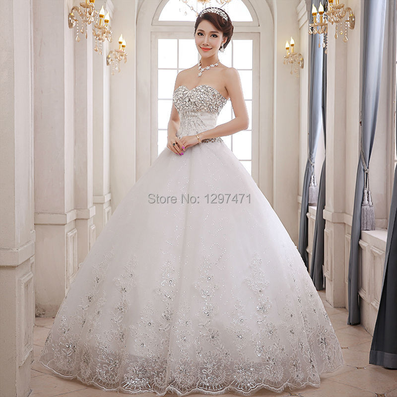 Wedding Dresses Diamond White White Ivory Wedding Dress