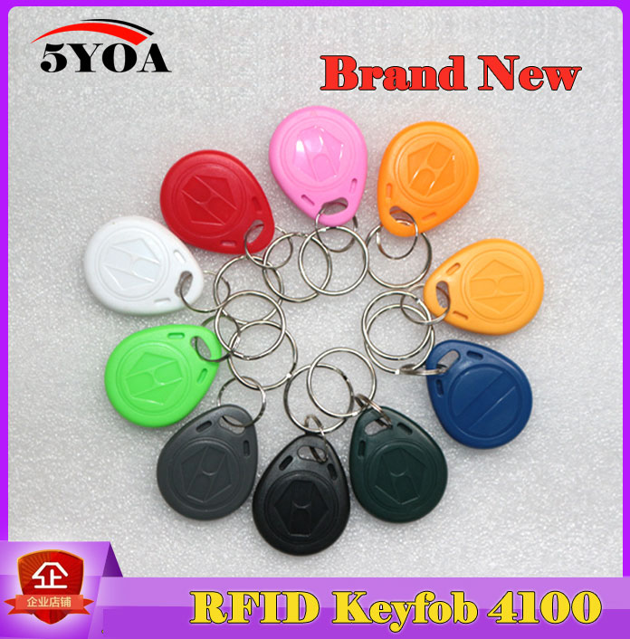 10pcs RFID Tag Proximity ID Token Tags Key Keyfobs Ring 125Khz RFID Card Chip ID em4100 for Access Control Time Attendance(China (Mainland))