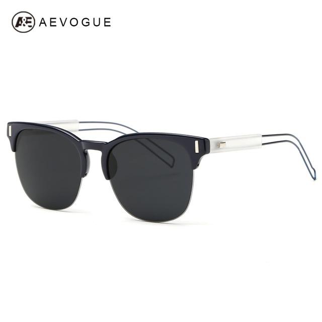 Aevogue людей полуободковые летний стиль солнцезащитные очки зеркало объектива металла храм старинные Gafas óculos De Sol AE0331