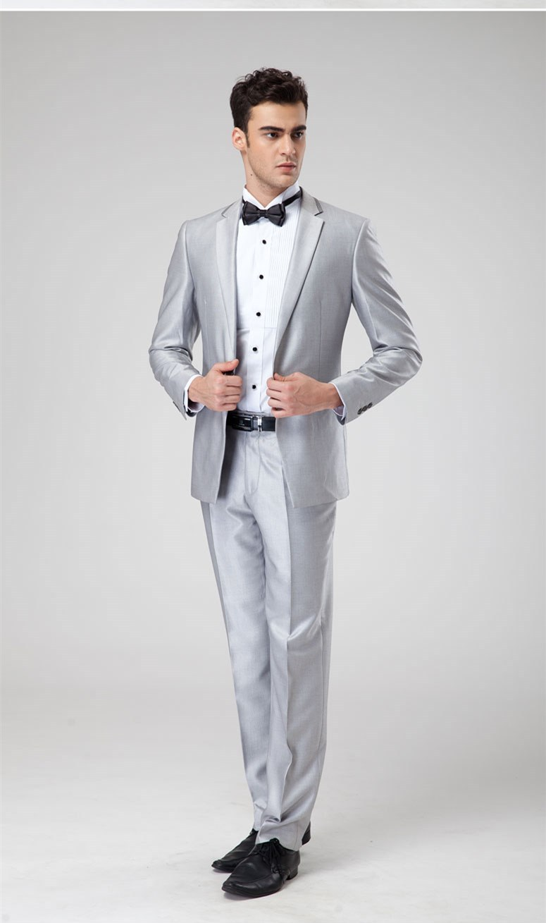 Silver Dress Pants For Men