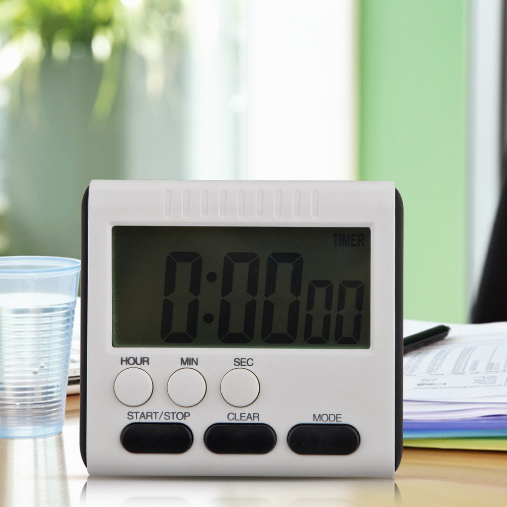 24 hours magnetic large lcd digital kitchen timer alarm count up down clock 11street malaysia. Black Bedroom Furniture Sets. Home Design Ideas