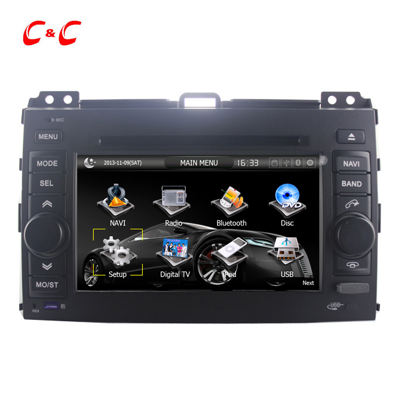 Car DVD Player for Toyota Prado 120 Car DVD with GPS Navi Radio TV BT, Russian menu+Free 8G Map Card+Free Rear View Camera !!(China (Mainland))