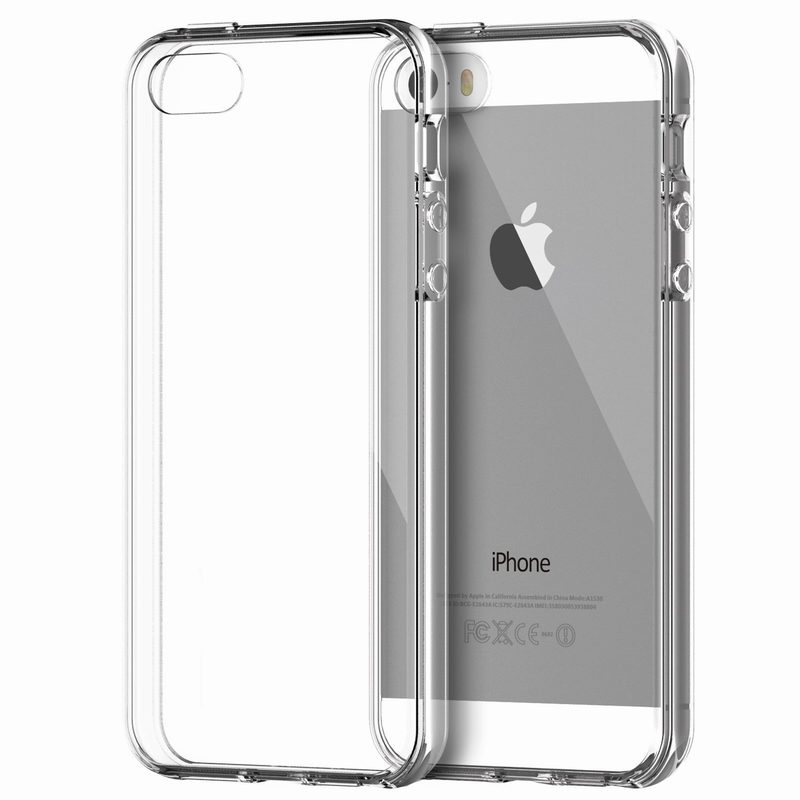 For capa iPhone 5 Case Apple Bumper Cover Shock-Absorption Bumper Anti-Scratch Clear Back for coque iPhone 5 5s Crystal Clear(China (Mainland))