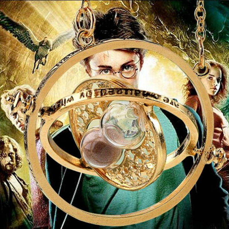 1pcs armillary sphere celestial globe Time converter Time travel machine Three movable circle Colorful sand Hourglass necklace(China (Mainland))