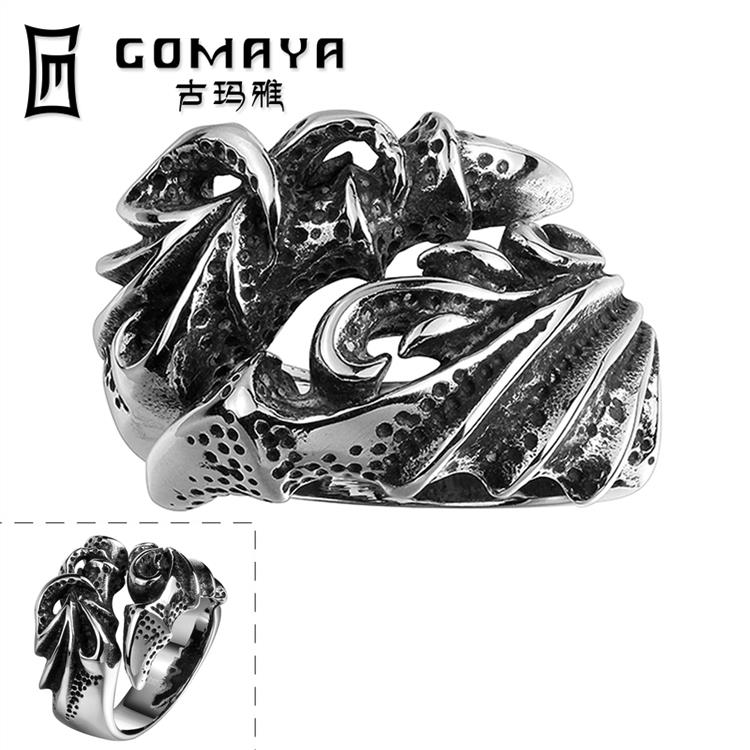 Punk 316L Stainless Steel Rings For Man Fashion Men Jewelry Angry Dragon Ring wholesales(China (Mainland))