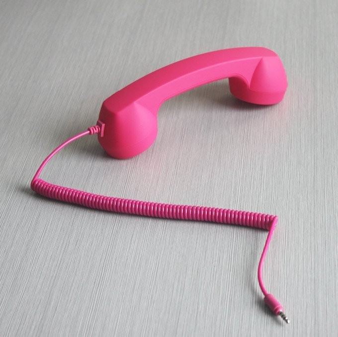 50pcs/lot Telephone Headsets for iphone 4s Stylish retro mobile phone handset for iphone 4(China (Mainland))