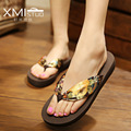 Summer Fashion Sandals Shoes For Women Wedge Heel Flip Flops Chaussure Femme Ete Bohemia Lady Slippers