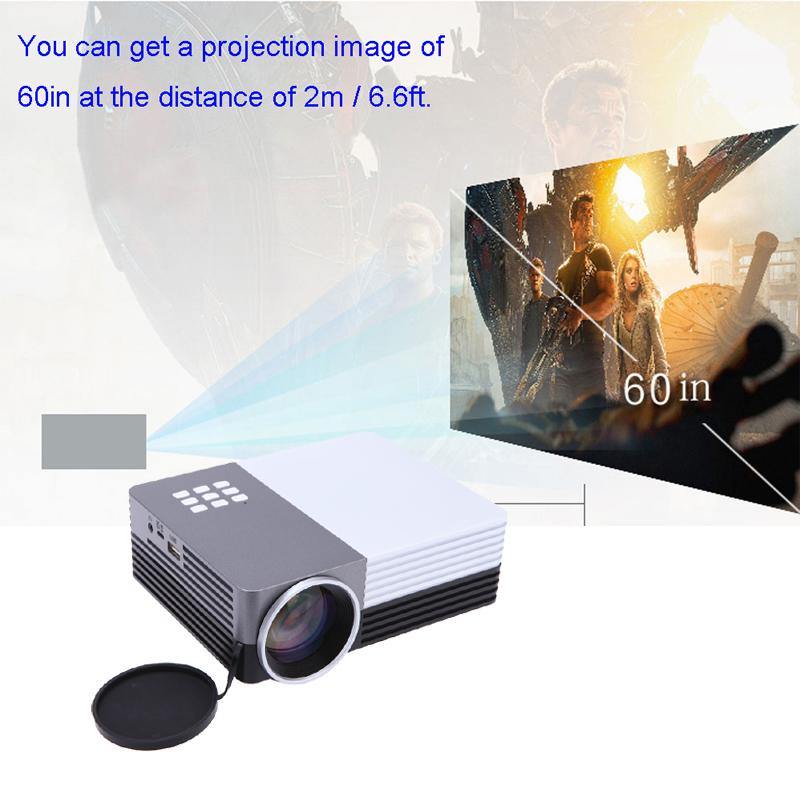 Home Theater Beamer Mini LED Full HD TV Projector SD/HDMI/VGA/AV/USB Power Bank GM50 3D video projectors(China (Mainland))