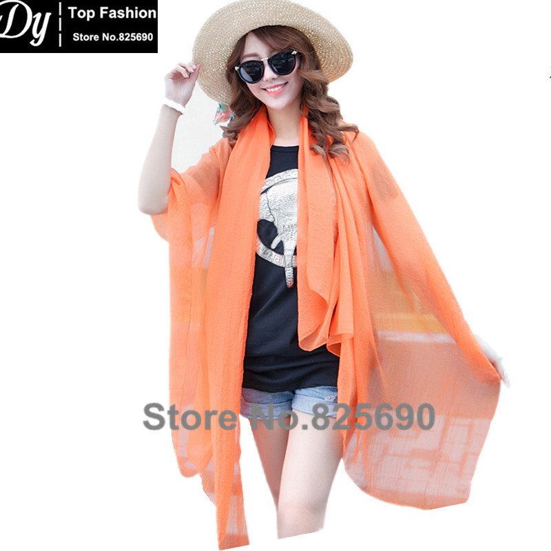 New 2016 Popular Scarf 150*100 Large Size Women's Shawl Scarves Summer Beach Towel Bikini Sarong Solid Chiffon Scarves for women(China (Mainland))
