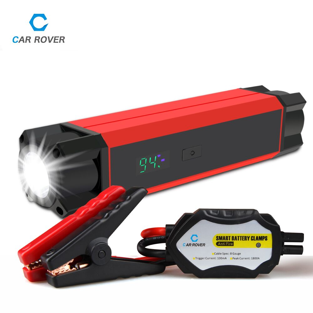 High Power Multi-Function 12V Car Jump Starter Phone Laptops Power Bank Portable Auto Battery Booster Charger Bright SOS Lights(China (Mainland))