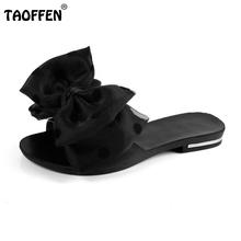 Buy Women's Flat Sandals Bowtie Slipper Flats Sandal Open Toe Summer Shoe Women Sexy Party Beach Vacation Female Footwear Size 35-39 for $11.32 in AliExpress store