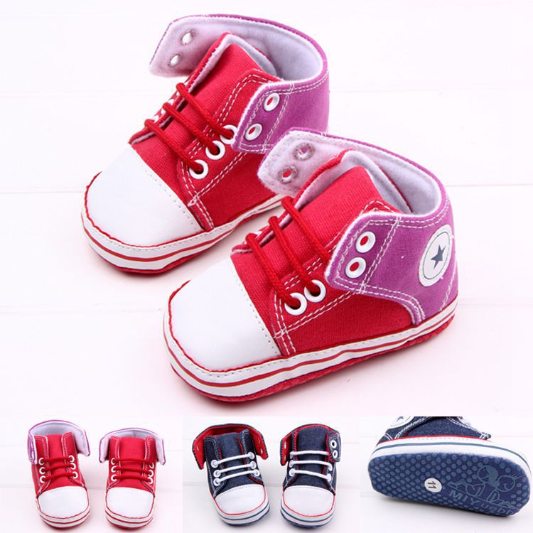 ZS-DB0265 1 pair Lace-Up Baby canvas Sneakers soft bottom baby girl first walkers 2015 China New Products(China (Mainland))
