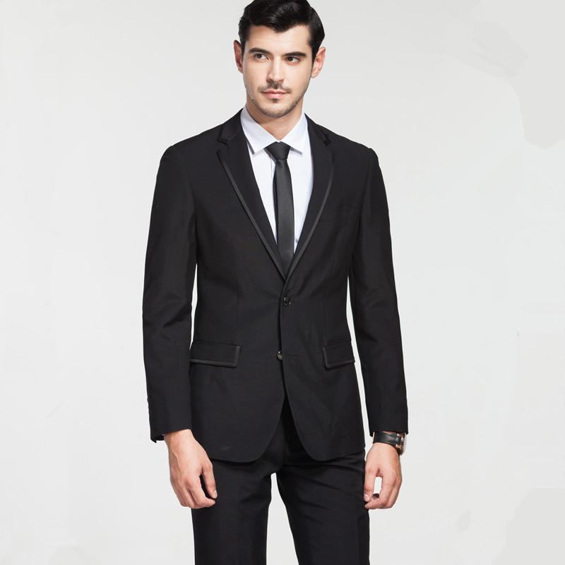 Cut standard business casual suits men cultivating long-sleeved suit autumn wear groom groomsman dress C40
