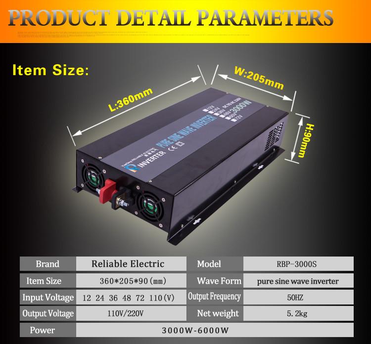 LED Display  Off Grid Solar  Inverter 3000Watt/3000W/3KW 12/24/48VDC To