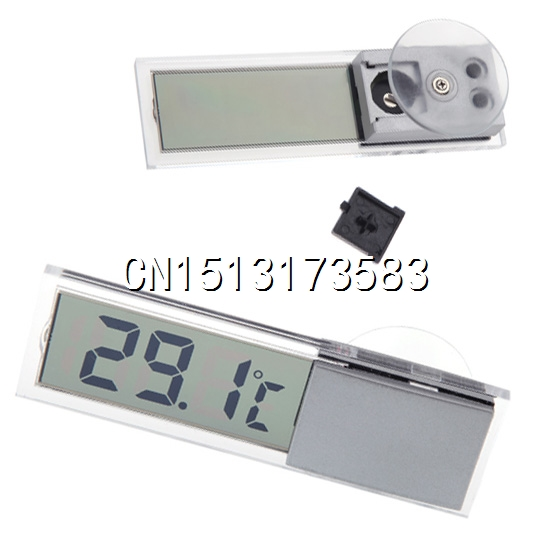 LCD Display Digital Temperature gauge Suction Bracket Thermometer Display Auto Household Tempearture tester(China (Mainland))