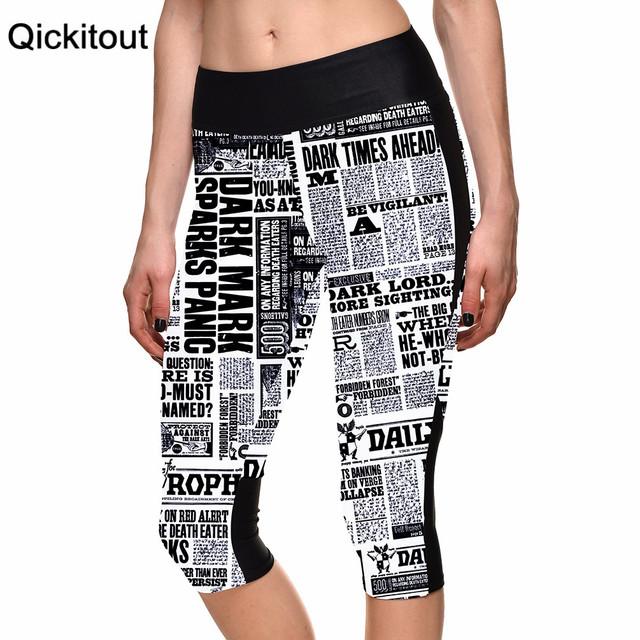 Оптовая продажа сексуальный 2015 женщин 7 точка брюки письмо плакаты газета цифровой ...