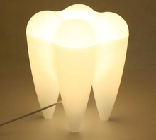 Creative Mr P Tooth Lamp White Desk Table Lamp Study Led Tooth Lamp for Christmas Gift Bedroom Decoration Tooth Lamp Lightng(China (Mainland))