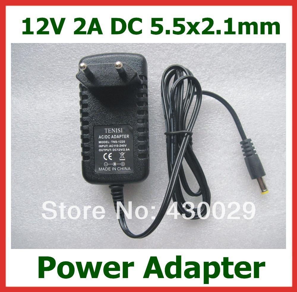 Гаджет  TNS-1220 AC/DC Power Adapter 12V 2A 5.5x2.1mm EU US Plug for LED Strips Light  PDA Digital Camera Charger Free Shipping None Электротехническое оборудование и материалы