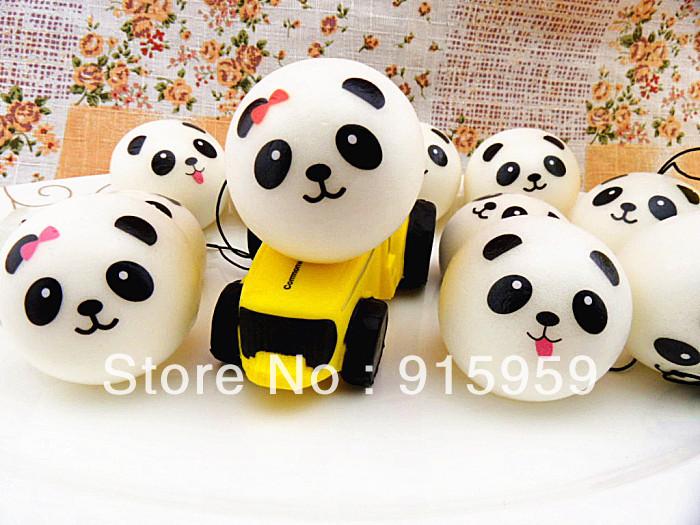 Panda Bun Squishy Supplier : Aliexpress.com : Buy christmas gift hot sales cute kawaii 4cm panda squishy squishies bun phone ...