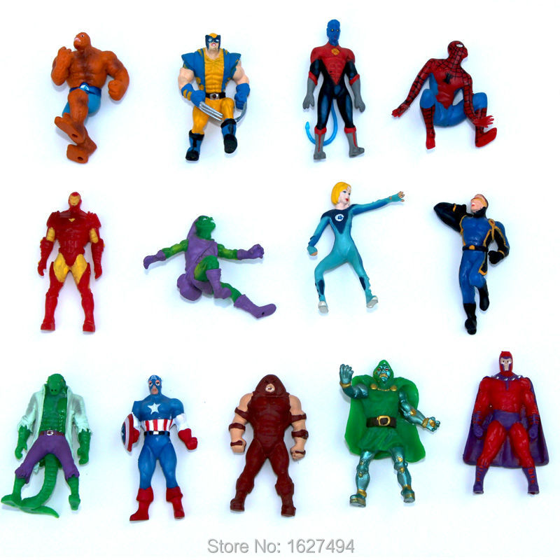 10pcs Marvel Avengers Superheroes Manga Miniatures PVC Action Figures Spiderman Anime Figure Figurines Kids Toys For Boys Girls(China (Mainland))