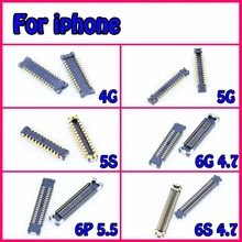 50pcs/lot new lcd Digitizer Glass FPC Connector Plug on mainBoard motherboard Pin For iphone 4s 5 5g 5c 5s 6 6 plus 6s 6s plus(China (Mainland))