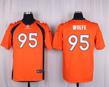 100% Elite men Denver Broncos WOMEN KIDS YOUTH FREE SHIPPING 95 Derek Wolfe(China (Mainland))
