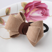 2016 Hair Accessories 1 PC Women Flower Bow Elastic Hair Band Rope Scrunchie Ponytail Holder Plaid Big Bowknot Tie Hair Accessoy