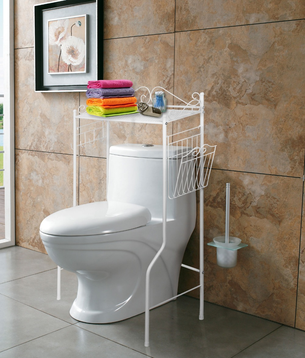 Bathroom over toilet storage