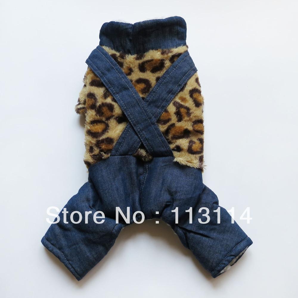 Moda Leopar Köpek Tulumlar Pijama Ceket Sıcak Peluş Kostümler Pet Giyim Malzemeleri Köpek Giyim XS Sml Ücretsiz Kargo(China (Mainland))