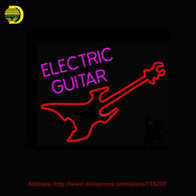 Neon Sign Electric taylor Guitar Store Display Handcrafted Signs Glass Tube Advertise Blues Signs Neon Publicidad Indoor 24x20(China (Mainland))